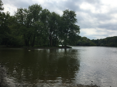 Photo of an island on the Fox River